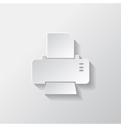 Printer web icon vector