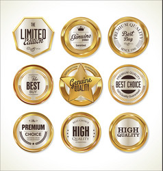 quality golden label collection 1 vector image