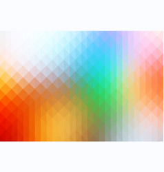 Rainbow colors rows of triangles background vector