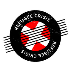 Refugee crisis rubber stamp vector