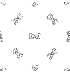 rounded bow tie pattern seamless vector image