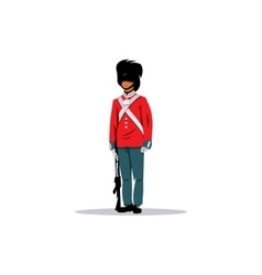Royal British guardsman sign vector