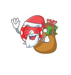 Santa gambling chips cartoon character design vector