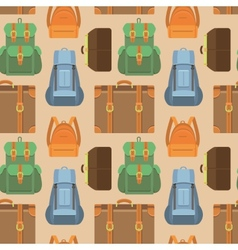 Seamless pattern in flat style - travel vector