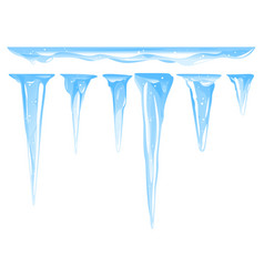 set different icicles isolated vector image