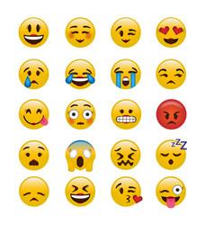 Set girly emoticons emoji icon image vector