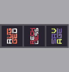 set graphic modern t-shirt designs vector image
