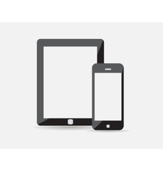 set of modern digital tablet and mobile phone vector image