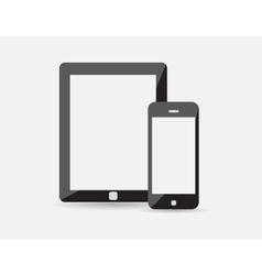 Set of modern digital tablet and mobile phone vector
