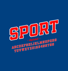 sports uniform style font alphabet letters and vector image