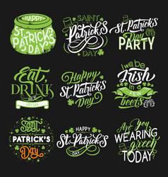 St patrick green symbol for irish holiday design vector