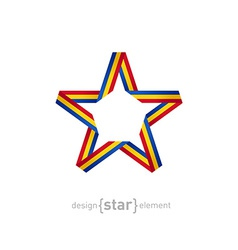 star with flag of Romania colors vector image