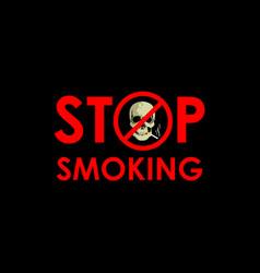 Stop smoking template design vector