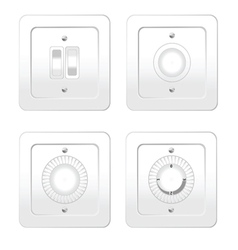 Switches in different variants vector