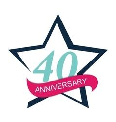 Template Logo 40 Anniversary vector image
