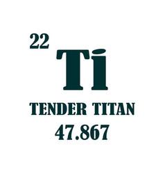 Tender titan text vector