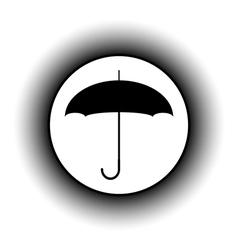 Umbrella button vector image
