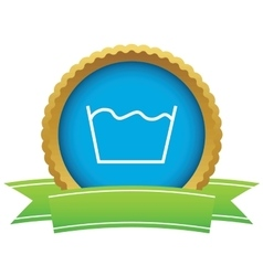 Wash certificate icon vector