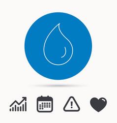 water drop icon liquid sign vector image