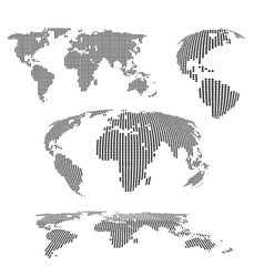 World maps halftone vector