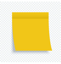 yellow stick note yellow paper art sticker with vector image