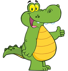 Alligator Or Crocodile Showing Thumbs Up vector image vector image