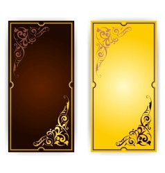 Elegant template for greeting card invitation vector image vector image
