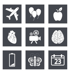 Icons for web design and mobile applications set 2 vector