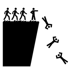 Off a cliff vector image vector image