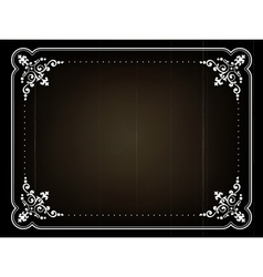 Old movie frame vector image vector image