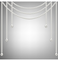 pearl necklace vector image vector image