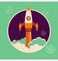 rocket space vector image