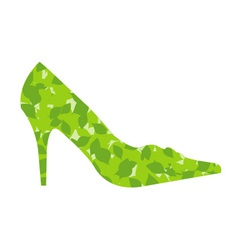 shoe with leaves vector image vector image