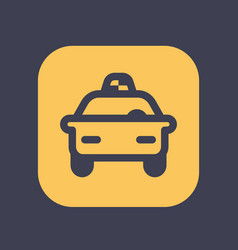 taxi icon in linear style vector image vector image