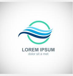 wave water icon logo vector image