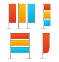 Blanc Banner Flag Mockups Color vector image
