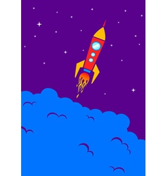 Red rocket vector image