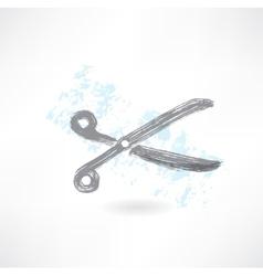 scissors grunge icon vector image vector image