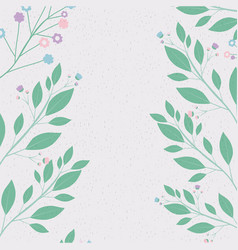 colorful background with decorative branches vector image