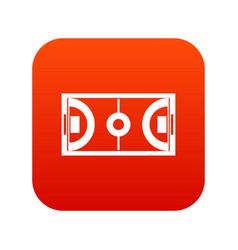 futsal or indoor soccer field icon digital red vector image vector image