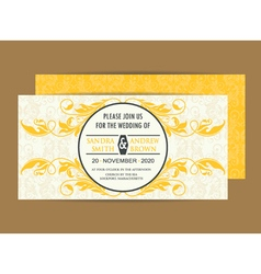 invitation save the date vector image vector image