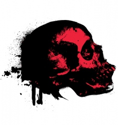 skeleton splat vector image