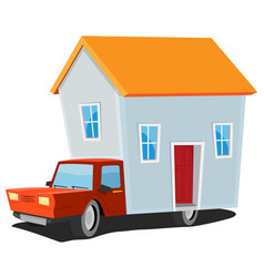 small house on delivery truck vector image