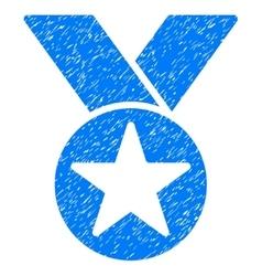 Star medal grainy texture icon vector