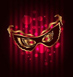 Carnival or theater mask on glowing background vector image vector image