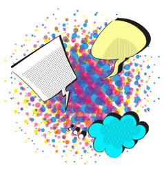 Comic speech bubbles on halftone background vector