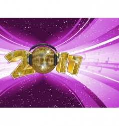 new year disco light explostion vector image
