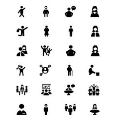 People Icons 2 vector image vector image