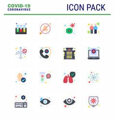 16 flat color coronavirus covid19 icon pack vector