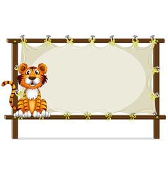 A tiger inside a frame vector